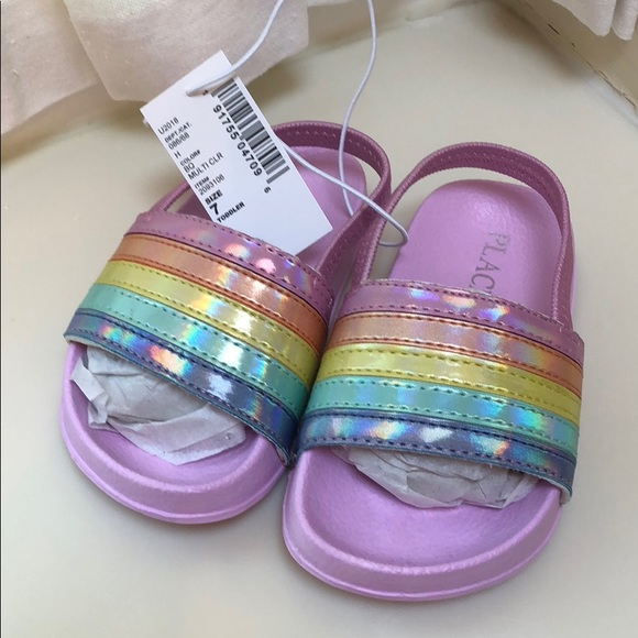 Childrens Place Rainbow Slideon Sandals